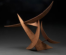 wood sculpture with sharp edges