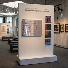 A picture of a photograph display
