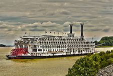 A picture of a riverboat