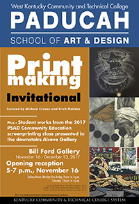 flyer for the printmaking invitational