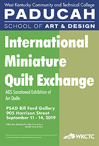 AQS Quilt Week sanctioned exhibition, September 11-14 in the Bill Ford Gallery.